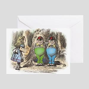 Tweedledum and Tweedledee Greeting Card