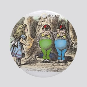 Tweedledum and Tweedledee Ornament (Round)
