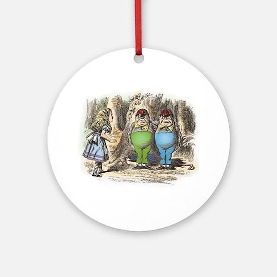 Tweedledum and Tweedledee Ornament (Round)