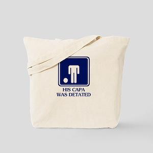 Humor Capa Detated Tote Bag