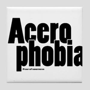 Acerophobia Tile Coaster