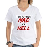 MAD AS HELL b Women's V-Neck T-Shirt