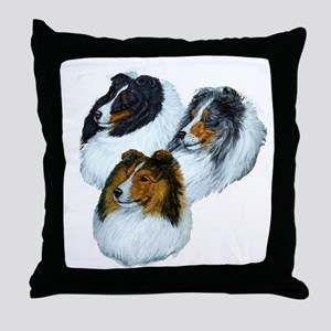 Sheltie Headstudys Throw Pillow