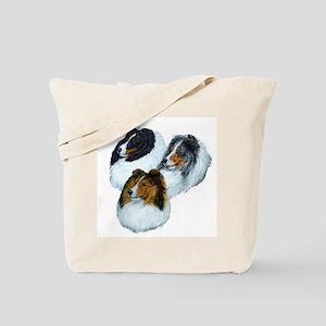 Sheltie Headstudys Tote Bag