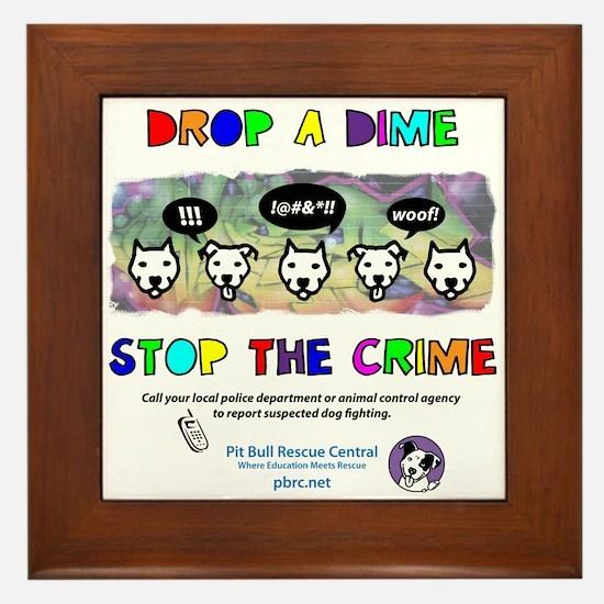 Drop A Dime Framed Tile