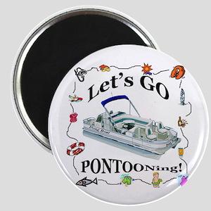 """Pontoon Boat 2.25"""" Magnet (10 pack)"""