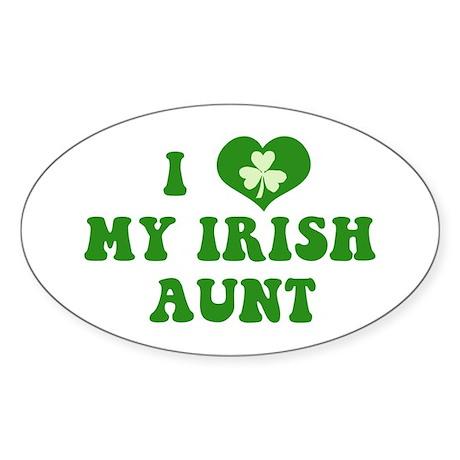I Love My Irish Aunt Sticker (Oval)
