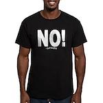 NO! Men's Fitted T-Shirt (dark)