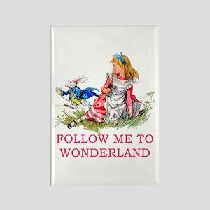 ALICE - Follow Me To Wonderland Rectangle Magnet