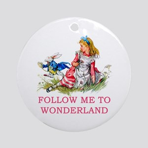 ALICE - Follow Me To Wonderland Ornament (Round)