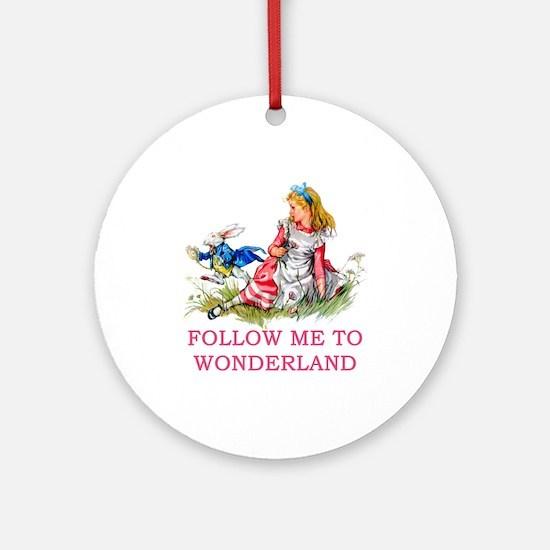 ALICE - Follow Me To Wonderland Ornament (Round)