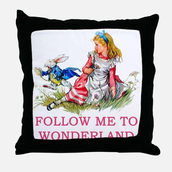 ALICE - Follow Me To Wonderland Throw Pillow