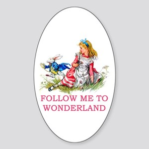 ALICE - Follow Me To Wonderland Sticker (Oval)