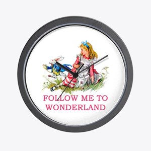 ALICE - Follow Me To Wonderland Wall Clock