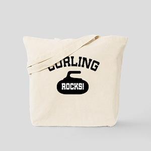 Curling Rocks! Tote Bag