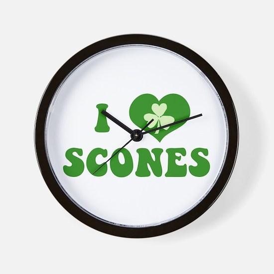 I Love Scones Wall Clock
