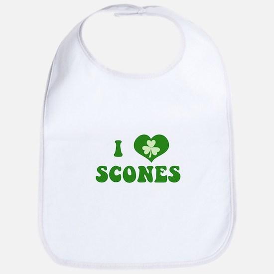 I Love Scones Bib