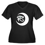 LunaSees Logo Women's Plus Size V-Neck Dark T-Shir