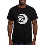 LunaSees Logo Men's Fitted T-Shirt (dark)