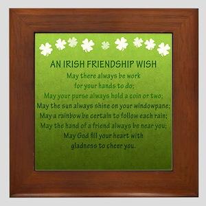 Irish Friendship Wish Framed Tile