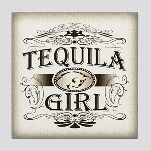 Tequila Girl Buckle Tile Coaster