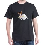 Jack Russell Graduation Design on Dark T-Shirt