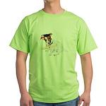 Jack Russell Graduation Design on Green T-Shirt