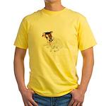 Jack Russell Graduation Design on Yellow T-Shirt