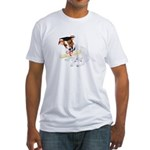 Jack Russell Graduation Design on Fitted T-Shirt