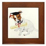 Jack Russell Graduation Design on Framed Tile
