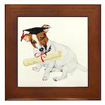 Jack Russell Graduation Design on Framed Tile