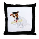 Jack Russell Graduation Design on Throw Pillow