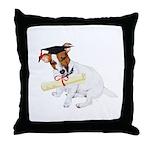 Jack Russell Graduation Design on Throw Pillow