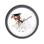 Jack Russell Graduation Design on Wall Clock