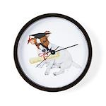 Jack Russell Graduation Design on Wall Clock