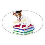 Jack Russell Terrier Graduation Sticker (Oval 50 p