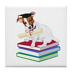 Jack Russell Terrier Graduation Tile Coaster