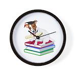 Jack Russell Terrier Graduation Wall Clock