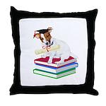 Jack Russell Terrier Graduation Throw Pillow