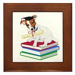 Jack Russell Terrier Graduation Framed Tile
