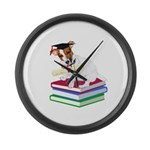 Jack Russell Terrier Graduation Large Wall Clock