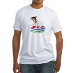 Jack Russell Terrier Graduation Fitted T-Shirt