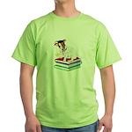 Jack Russell Terrier Graduation Green T-Shirt