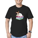 Jack Russell Terrier Graduation Men's Fitted T-Shi