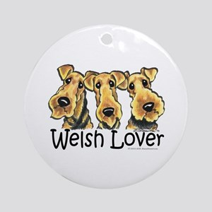 Welsh Terrier Lover Ornament (Round)
