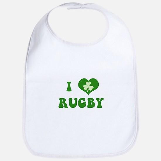 I Love Rugby Bib