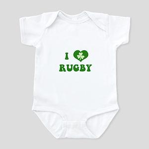 I Love Rugby Infant Bodysuit