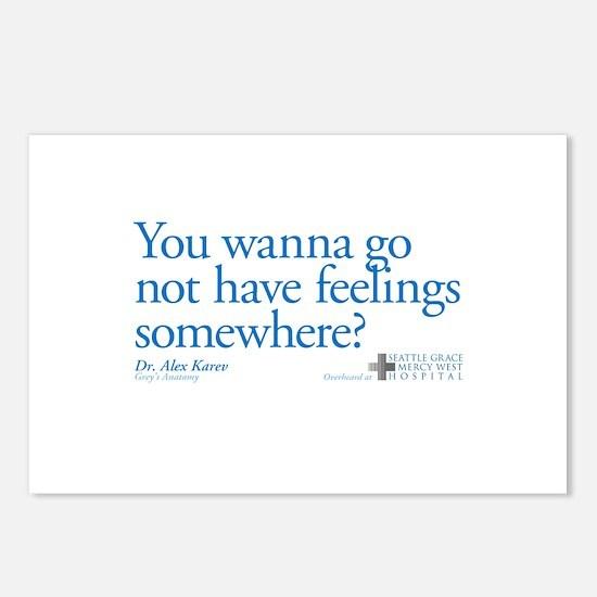 Not Have Feelings? Postcards (Package of 8)