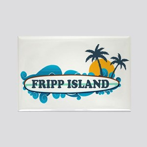 Fripp Island SC - Surf Design Rectangle Magnet