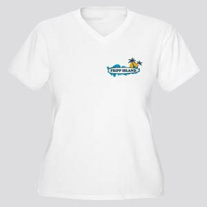 Fripp Island SC - Surf Design Women's Plus Size V-